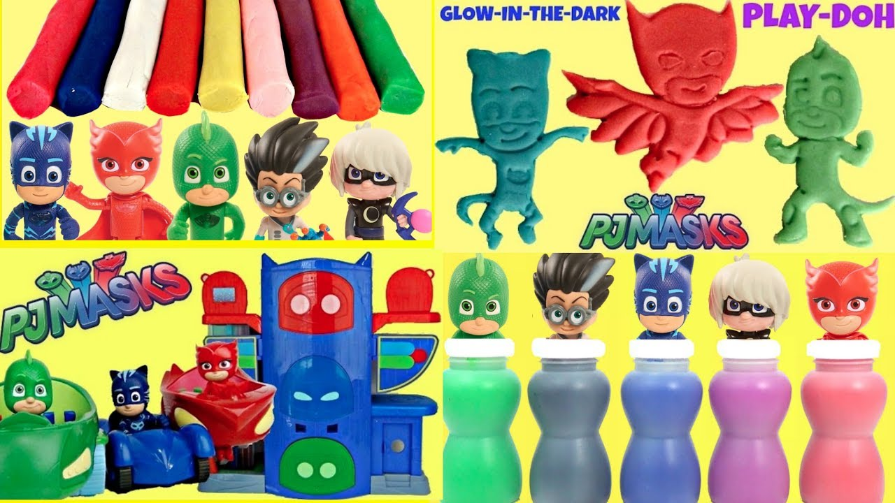 Pj Masks Compilation with Headquarters HQ Playset and Play-Doh