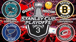 NHL STANLEY CUP PLAYOFFS 2019 - Round 3 Conference Finals Guide/Predictions