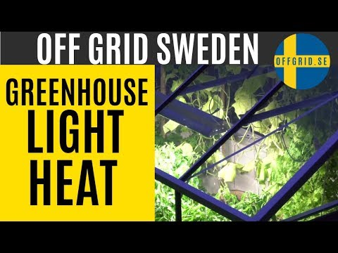 Greenhouse build — Installing heating and light fixtures