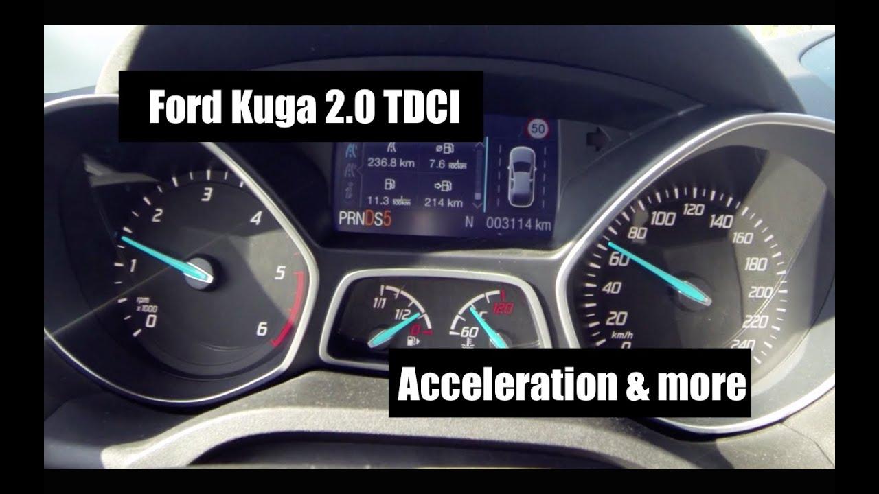 Ford kuga 2 0 tdci powershift 4x4 acceleration kickdown manual mode youtube