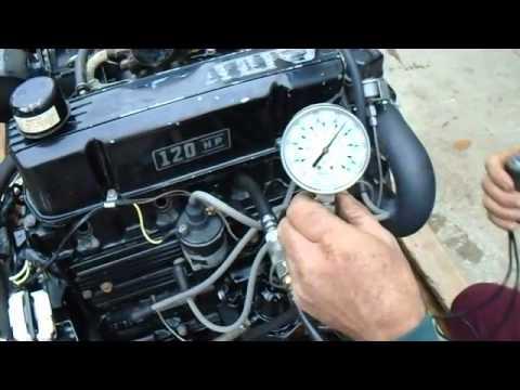 MerCruiser 120 HP 25L 4 cylinder engine motor for sale - YouTube