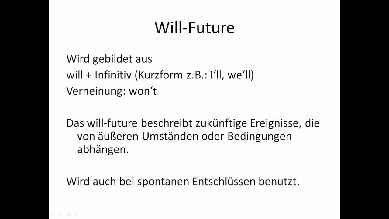 zukunft im englischen ausdr cken auf deutsch erkl rt will future going to future etc youtube. Black Bedroom Furniture Sets. Home Design Ideas