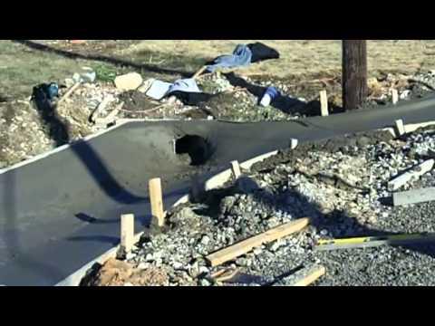 Concrete Drainage For Parking Lot Expansion Youtube