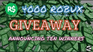 4000 ROBUX GIVEAWAY WINNERS! | EARN FREE ROBUX | THX FOR 5.6K SUBS! | Roblox