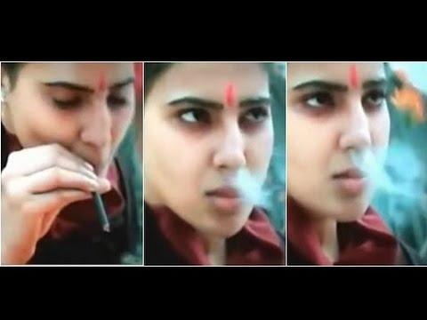 Download Actress Samantha's Smoking Scene in 10 Endrathukulla Creates Trouble