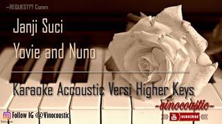 Yovie & Nuno - Janji Suci Karoke Piano Versi Higher Keys