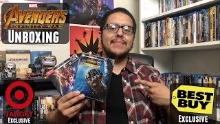 Avengers: Infinity War Target and Best Buy Exclusive 4K Blu-ray Unboxing + Giveaway