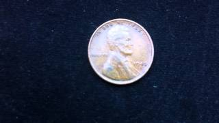 Coins : USA Penny 1945 S Coin aka Wheat Penny or Lincoln Penny