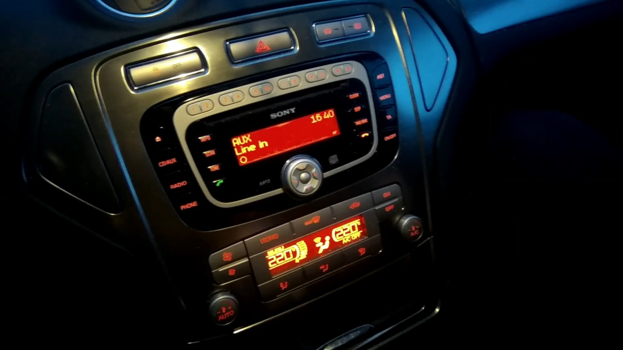 Bluetooth sony ford mondeo