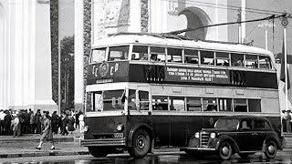 Двухэтажный троллейбус 1938 года, ЯТБ-3 родом из СССР