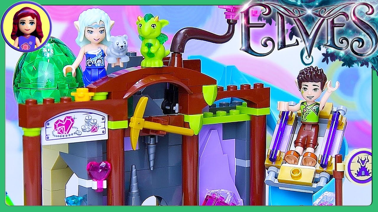 Lego Elves The Precious Crystal Mine Build Review Silly