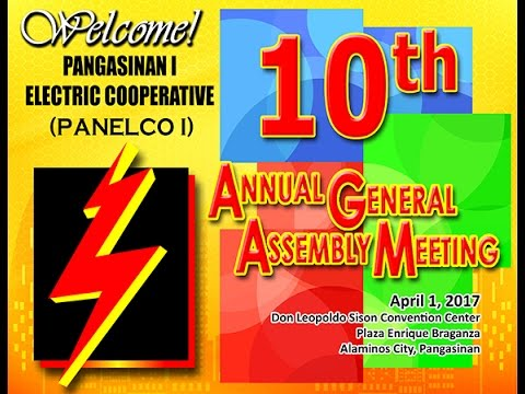 Pangasinan I Electric Cooperative (PANELCO I) 10th Annual General Assembly Meeting