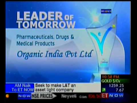 ORGANIC INDIA Best Pharma Company Award -  ET Now and India Mart Award leaders of Tomorrow
