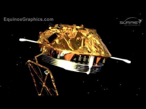 GMP-A satellite platform animation for SSTL