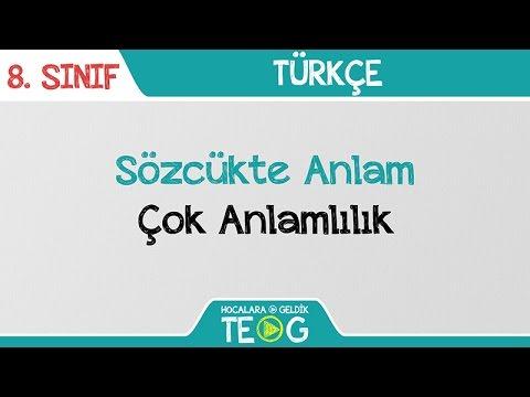 8. Sınıf Türkçe - Neden, Amaç, Koşul-Sonuç Cümlesi | 2021