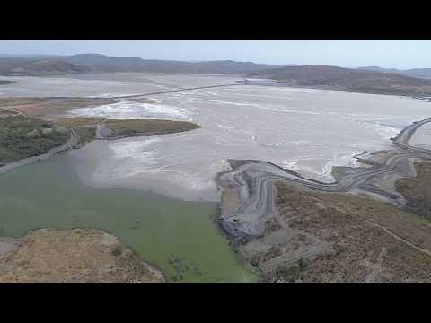 Drone na maior barragem de rejeitos do Brasil em PARACATU/MG (Kinross Gold)