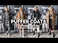 PUFFER JACKET WAYS TO WEAR | Long Puffa Coats from Missguided & Everlane Aka sleeping bag coat