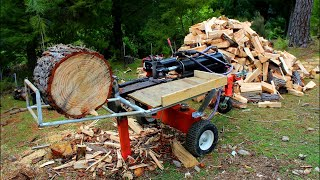 How to make a log lifter for a hydraulic splitter using main ram return stroke
