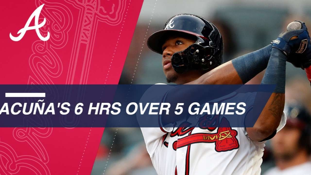 Ronald Acuna Jr. goes deep for 5th straight game to set MLB record