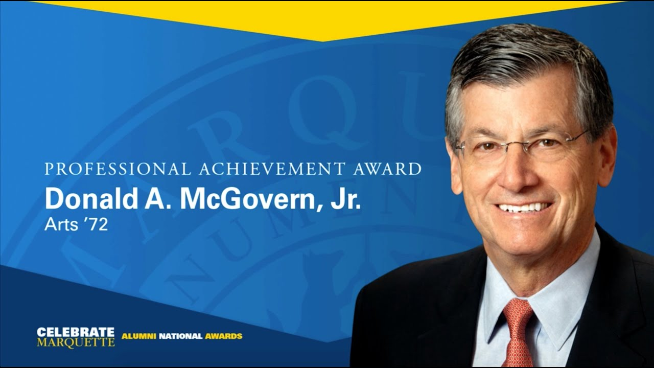 donald a mcgovern jr professional achievement award  donald a mcgovern jr professional achievement award 2016