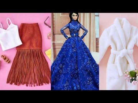 AMAZING DOLL CRAFTS; DIY Barbie Clothes 👚 👚 Barbie Tutorial
