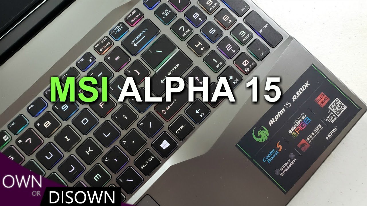 MSI ALPHA 15 REVIEW - World's 1st 7nm AMD Gaming Laptop !
