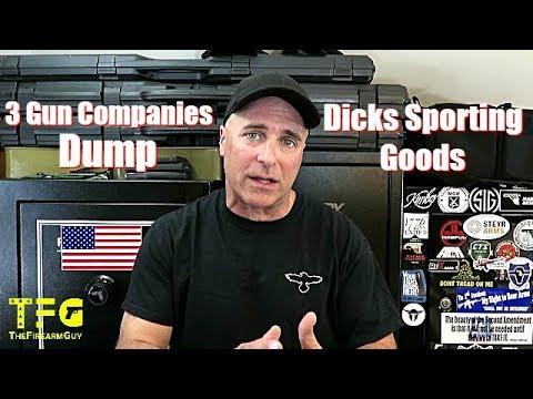 3 Gun Companies Dump Dicks Sporting Goods - TheFireArmGuy