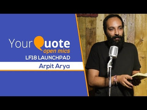 'Kashmir' & More By Arpit Arya   Hindi Poetry   YQ - LF18 Launchpad 3