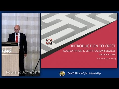 Introduction to CREST - Accreditation and Certification Services
