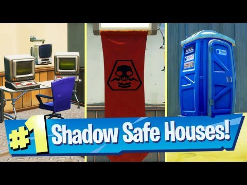 Find SHADOW Safe Houses Locations - Fortnite Battle Royale