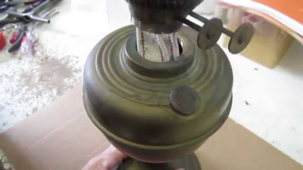 Converting An Oil Lamp to an Electric Lamp - YouTube