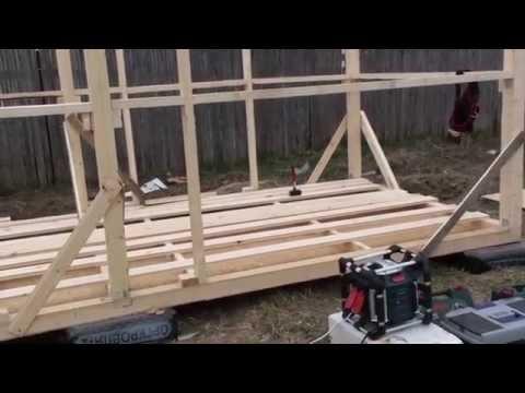 видео: [vlog] Весенний анонс по стройке, начало строительства бытовки, сезон 2014