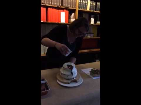 Geological Society staff geobakeoff - lahar cake