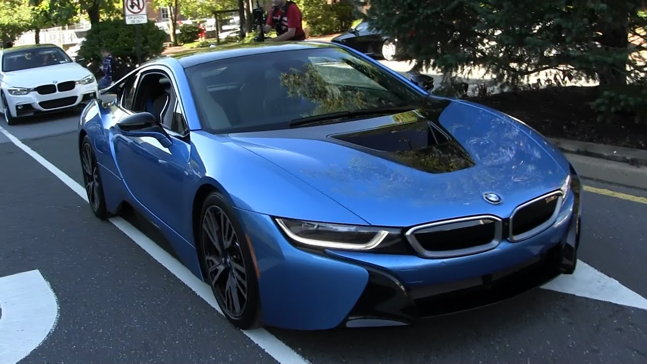 Bmw I8 Gold >> BMW i8 Arrival - Walkaround - Gold Coast Concours - YouTube
