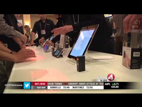 Virtual Keyboard One Product on Display at Stanford Event