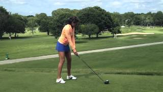 Repeat youtube video Holly Sonders Driver Swing: CVS Caremark Charity Classic