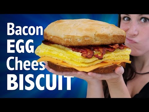 4 POUND BACON EGG & CHEESE BISCUITS + EATING COMPETITION