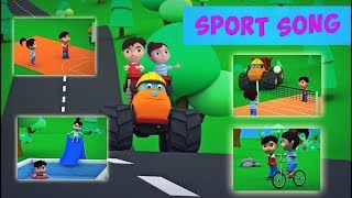 Sports Song +More Nursery Rhyme & Kids Cartoon Songs By Monster Truck OZHO