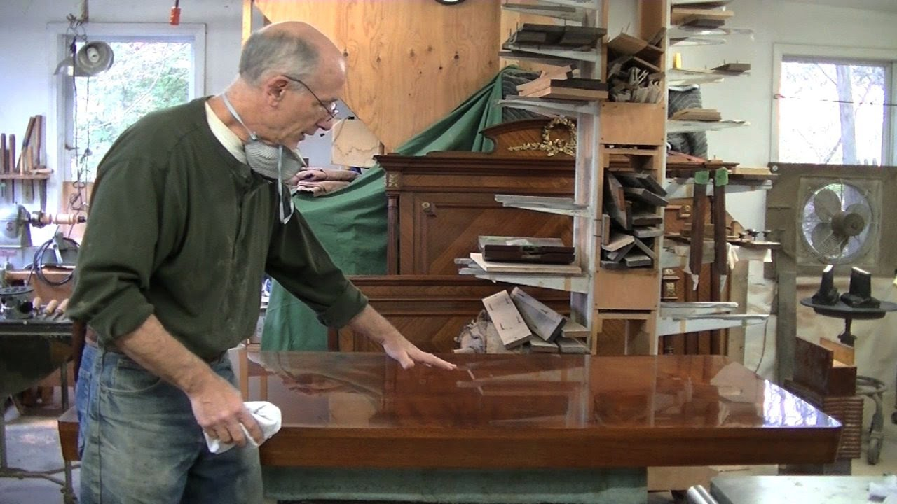 Repairing Veneer On A Midcentury Tabletop   Thomas Johnson Antique Furniture  Restoration