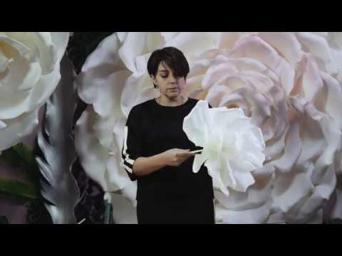 видео: Мастер-класс Фантазийного цветка из изолона
