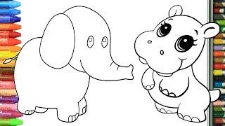 Как нарисовать животные | Раскраски детей HD | Рисование и окраска | Рисование для детей