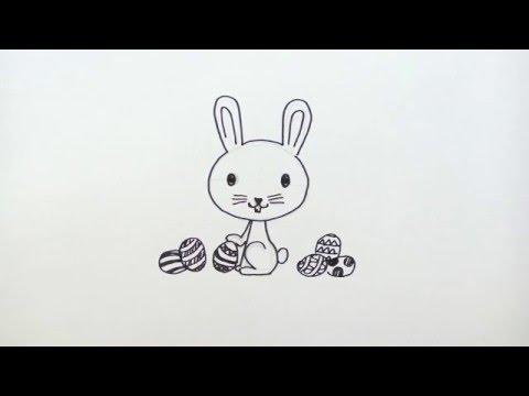 วาดการ์ตูน ง่ายๆ สอนวาดการ์ตูน กระต่าย อีสเตอร์ Easter Rabbit