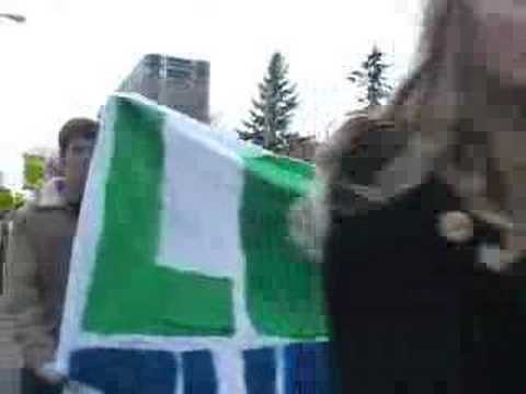 University of Ottawa student protest on tuition fees