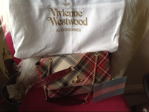 Unboxing and reveal of a Vivienne  Westwood tartan flap chain bag what a fabulous handbag