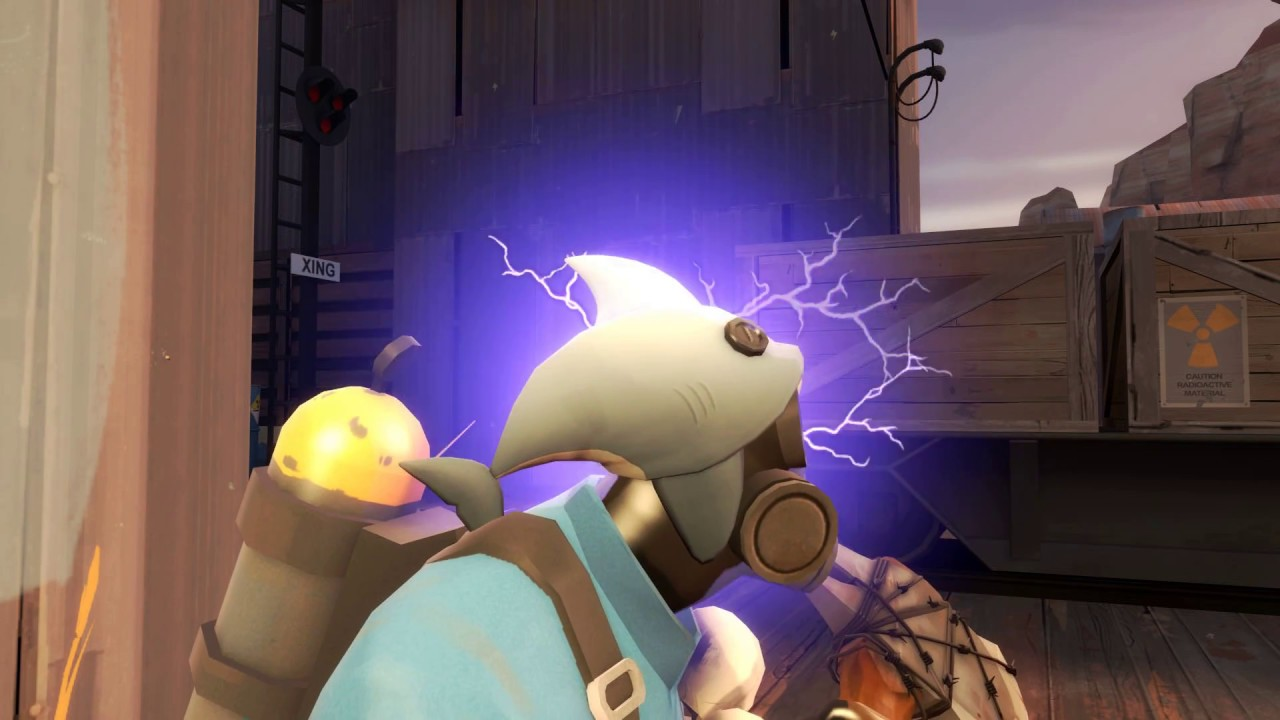 TF2 Unusual - Tesla Coil Cranial Carcharodon - YouTube
