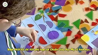 Dạy con học toán mầm non   Đồ chơi giáo dục sớm cho trẻ 5 tuổi : học hình học không gian