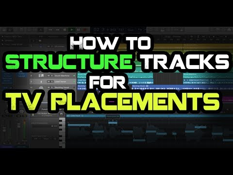 How To Structure Tracks For TV Placements