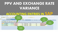 Purchase Price Variance (PPV) accounting in SAP (Part 2), Postings for GR, GI and Exchange rate diff