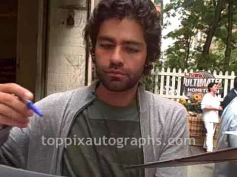 Adrian Grenier - Signing Autographs at Live with Regis and Kelly in NYC