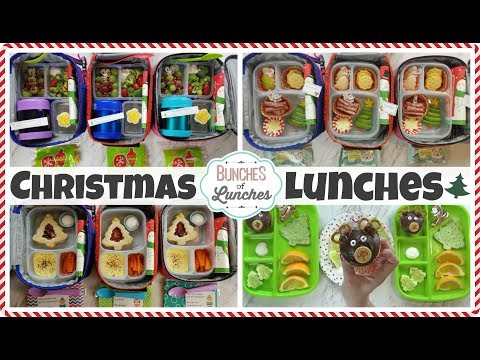 Christmas School Lunch Ideas for KIDS + What They Ate  🎄 Bunches of Lunches